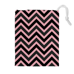 Zigzag Pattern Drawstring Pouches (extra Large) by Valentinaart