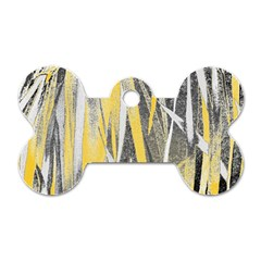 Abstraction Dog Tag Bone (one Side) by Valentinaart