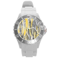 Abstraction Round Plastic Sport Watch (l) by Valentinaart
