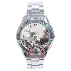 Watercolour Stainless Steel Analogue Watch