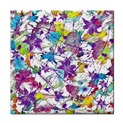 Lilac Lillys Tile Coasters by designworld65