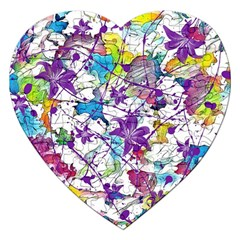 Lilac Lillys Jigsaw Puzzle (heart) by designworld65