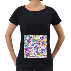 Lilac Lillys Women s Loose Fit T Shirt (black) by designworld65
