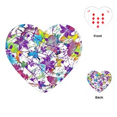 Lilac Lillys Playing Cards (heart)  by designworld65