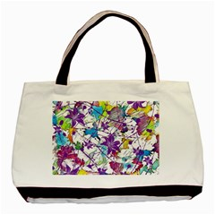 Lilac Lillys Basic Tote Bag by designworld65
