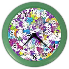 Lilac Lillys Color Wall Clocks by designworld65