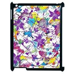 Lilac Lillys Apple Ipad 2 Case (black) by designworld65