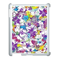 Lilac Lillys Apple Ipad 3/4 Case (white) by designworld65