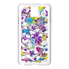 Lilac Lillys Samsung Galaxy Note 3 N9005 Case (White)