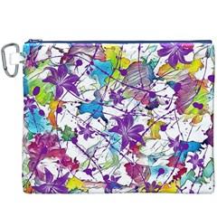 Lilac Lillys Canvas Cosmetic Bag (xxxl) by designworld65