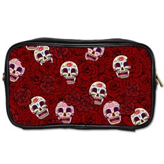 Funny Skull Rosebed Toiletries Bags 2 Side by designworld65