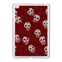 Funny Skull Rosebed Apple Ipad Mini Case (white) by designworld65