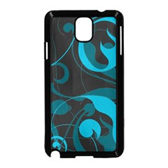 Floral Pattern Samsung Galaxy Note 3 Neo Hardshell Case (black) by Valentinaart