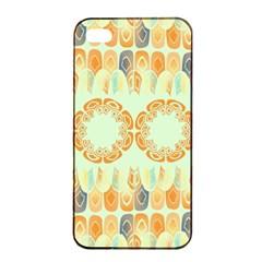 Ethnic Orange Pattern Apple Iphone 4/4s Seamless Case (black) by linceazul