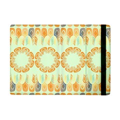 Ethnic Orange Pattern Apple Ipad Mini Flip Case by linceazul
