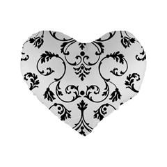 Ornament  Standard 16  Premium Heart Shape Cushions by Valentinaart