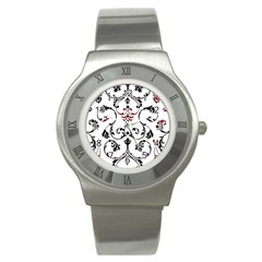 Ornament  Stainless Steel Watch by Valentinaart