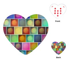Multicolored Suns Playing Cards (heart)  by linceazul