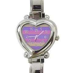 Pattern Heart Italian Charm Watch by Valentinaart