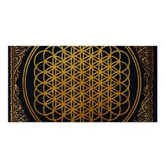 Bring Me The Horizon Cover Album Gold Satin Shawl by Onesevenart