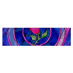 Enchanted Rose Stained Glass Satin Scarf (oblong) by Onesevenart