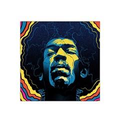 Gabz Jimi Hendrix Voodoo Child Poster Release From Dark Hall Mansion Satin Bandana Scarf by Onesevenart
