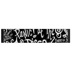Panic ! At The Disco Lyric Quotes Flano Scarf (small) by Onesevenart