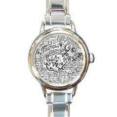 Panic! At The Disco Lyric Quotes Round Italian Charm Watch by Onesevenart