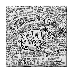 Panic! At The Disco Lyric Quotes Tile Coasters by Onesevenart