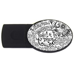 Panic! At The Disco Lyric Quotes Usb Flash Drive Oval (2 Gb) by Onesevenart
