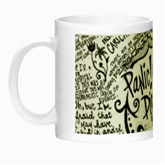 Panic! At The Disco Lyric Quotes Night Luminous Mugs by Onesevenart