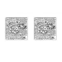 Panic! At The Disco Lyric Quotes Cufflinks (square) by Onesevenart