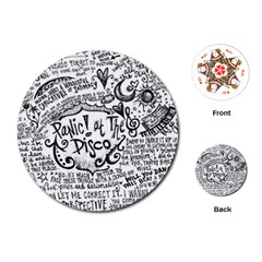 Panic! At The Disco Lyric Quotes Playing Cards (round)  by Onesevenart