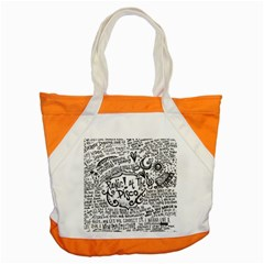 Panic! At The Disco Lyric Quotes Accent Tote Bag by Onesevenart