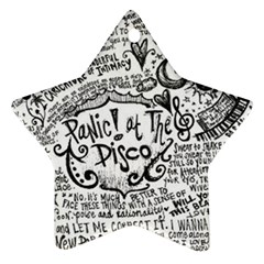 Panic! At The Disco Lyric Quotes Star Ornament (two Sides) by Onesevenart