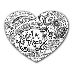 Panic! At The Disco Lyric Quotes Heart Mousepads by Onesevenart