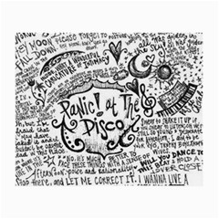 Panic! At The Disco Lyric Quotes Small Glasses Cloth (2 Side) by Onesevenart