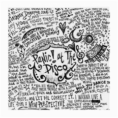 Panic! At The Disco Lyric Quotes Medium Glasses Cloth (2 Side) by Onesevenart