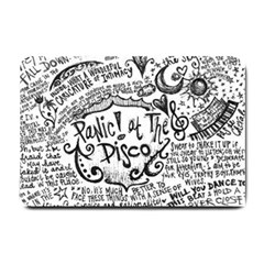 Panic! At The Disco Lyric Quotes Small Doormat  by Onesevenart