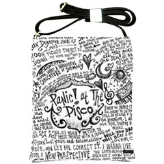 Panic! At The Disco Lyric Quotes Shoulder Sling Bags by Onesevenart