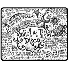 Panic! At The Disco Lyric Quotes Fleece Blanket (medium)  by Onesevenart