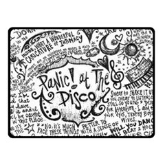 Panic! At The Disco Lyric Quotes Fleece Blanket (small) by Onesevenart