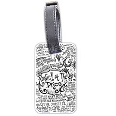 Panic! At The Disco Lyric Quotes Luggage Tags (one Side)  by Onesevenart