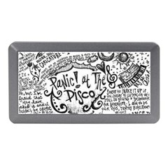 Panic! At The Disco Lyric Quotes Memory Card Reader (mini) by Onesevenart
