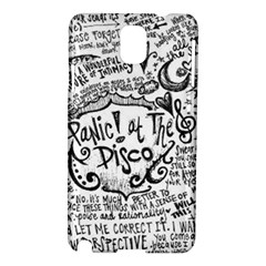 Panic! At The Disco Lyric Quotes Samsung Galaxy Note 3 N9005 Hardshell Case by Onesevenart