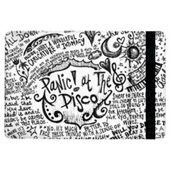 Panic! At The Disco Lyric Quotes Ipad Air Flip by Onesevenart