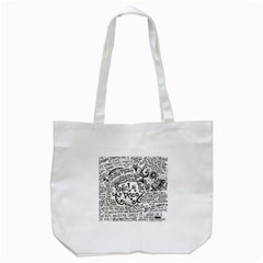 Panic! At The Disco Lyric Quotes Tote Bag (white) by Onesevenart