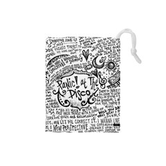Panic! At The Disco Lyric Quotes Drawstring Pouches (small)  by Onesevenart