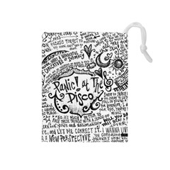 Panic! At The Disco Lyric Quotes Drawstring Pouches (medium)  by Onesevenart