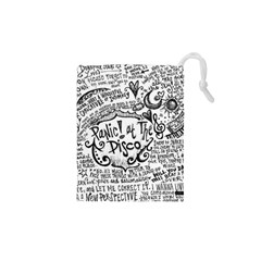Panic! At The Disco Lyric Quotes Drawstring Pouches (xs)  by Onesevenart